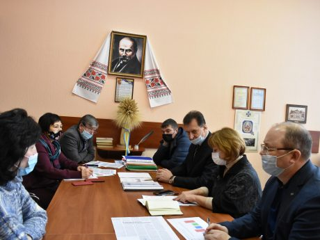 Meeting with the first vice-rector